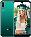 Telephone Pas Cher Android KXD A1 Telephone Portable Debloqué Pas Cher 16Go ROM avec Fente 3 en 1, Écran de 5,71 Pouces Dual SIM Smartphone, Vert