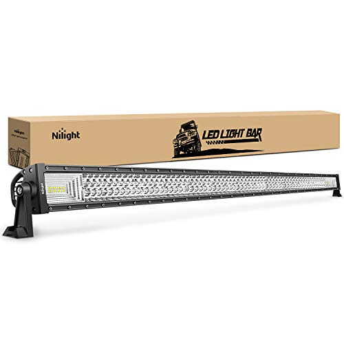 LED Light Bar Nilight 52Inch 783W Triple Row 49500LM Flood Spot Combo Beam Led Bar Driving Lights Boat Lights Super Bright Led Off Road Lights for Trucks,2 Years Warranty