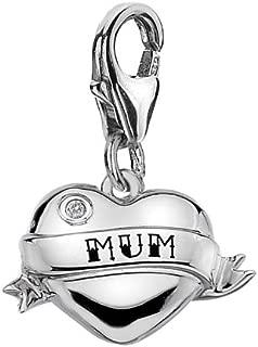 Mum Heart Charm