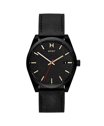 MVMT Herren Analog Quarz Uhr mit Kalbsleder aus Leder Armband 28000053-D