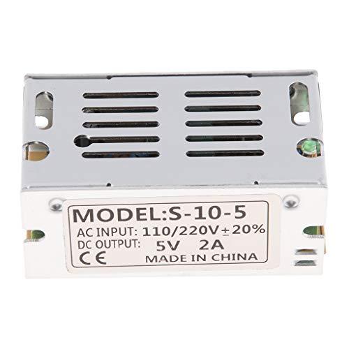 IPOTCH Controlador de Transformador LED Fuente de Alimentación Controlador de Adaptador de Fuente de Alimentación de Aluminio para Tiras de LED, IP67-2A