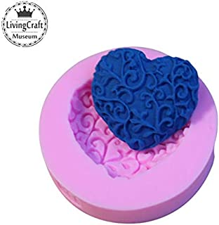 Tool Grinder - Heart Shape Lace Silicone Mold Flower Cake Decorating Stencil Moule Moldes De Silicona