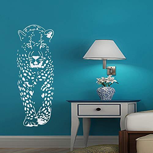 Rhpnyi Etiqueta engomada de la Pared del Leopardo Vinilo calcomanía Animal Leopardo Sala de Estar o habitación de los niños para el Dormitorio Familiar 41x114cm