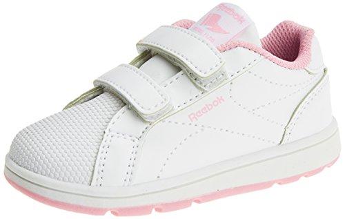 Reebok Bs7942, Mädchen Turnschuhe, weiß - weiß (Weiß/Charming Pink) - Größe: 20