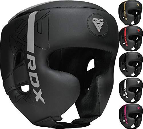RDX Headguard for Boxing, MMA Training, Adjustable Padded Kara Head Guard for Cheeks, Forehead and Ear Protection, Muay Thai Headgear, Kickboxing, Sparring, Martial Arts, Karate, Taekwondo Helmet