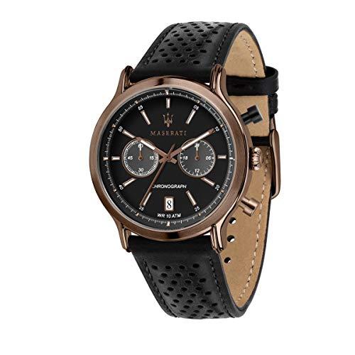 Orologio da uomo, Collezione Legend, cronografo, in acciaio, ip rame, pelle - R8871638001