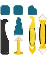 Siliconen Caulking Tool Kit Beroemdheid Siliconen Sealant 8 Stks Caulking Tool Kit met Plastic schraper/Caulk Remover/Nozzle Perfect voor Badkamer Keuken Vloer Hoek