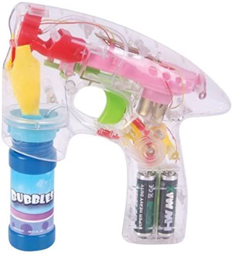 7 LED TRANSPARENT BUBBLE GUN Case Pack 5 by DDI