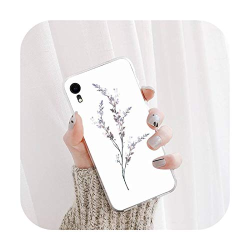 nine-C Beautiful Lavender Phone Case For iPhone X XS MAX 11 12 pro max 6 6s 7 7plus 8 8Plus 5 5S XR se 2020 case-a15-For iphone7 or 8