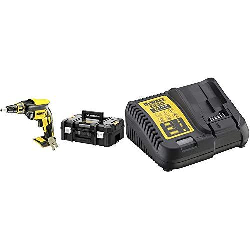 Dewalt DCF620NT-XJ DCF620NT-XJ-Atornillador Panel Yeso sin escobillas XR 18V + DCB115-QW - Cargador XR para baterias de 10,8V - 14,4V - 18V carril Li-Ion