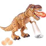 Uyuke Dinosaurio electrónico para Caminar, Dinosaurio Robot con Niebla de proyección y Juguete de Dinosaurio de acción de Huevos para niños y niñas