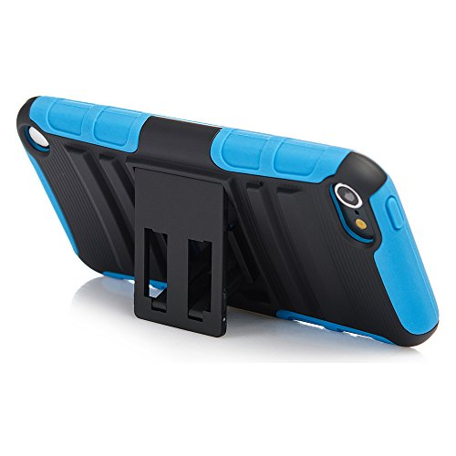 iPod Touch 7th Generation Case, Rugged Hybrid Dual Layer Protection Kickstand Full Cover Case with Video Watching Stand for Apple iPod Touch 7 7th Gen 6 6th Gen 5 5th Gen (Blue)