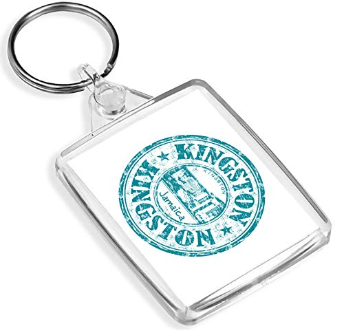 Porte-clés en vinyle de destination - 1 x Kingston Jamaica Culture Travel - Keying - IP02 - Cadeau pour maman papa - #9303