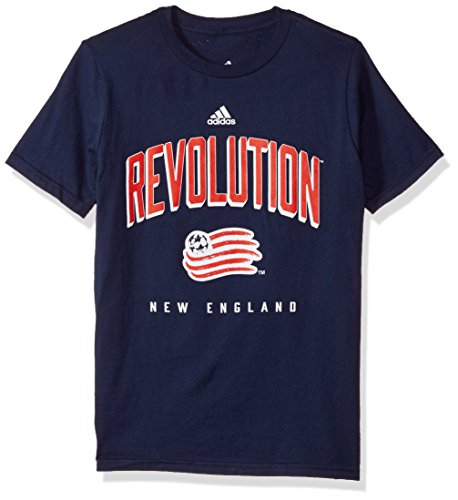 MLS New England Revolution Boys Outerstuff Arched Standard L/S Tee, Team Color , Youth Medium (10-12)