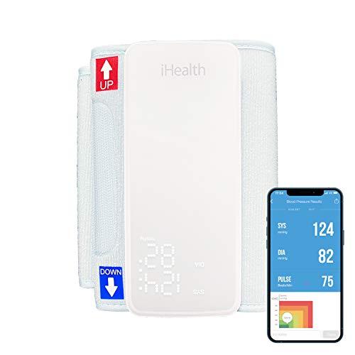 iHealth Neo Vernetztes Oberarm-Blutdruckmessgerät (BP5S) mit Display und einer einstellbaren Manschette für normale bis große Erwachsenenarme, Bluetooth-kompatibel mit Apple- und Android-Geräten