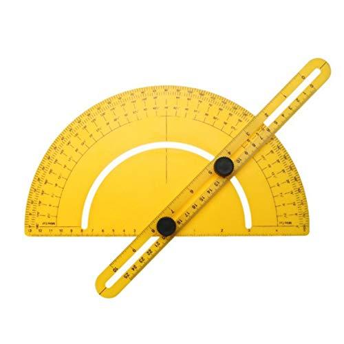 Multifunktions-ABS Kunststoff Winkelmesser Lineal Tragbare Größe Messgeräte Werkzeug Messgerät - Gelb