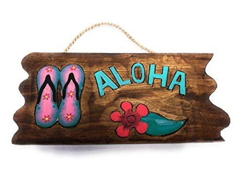 Norma Lily Aloha Hausschuhe Treibholz Schild 30,5cm–Pool Decor