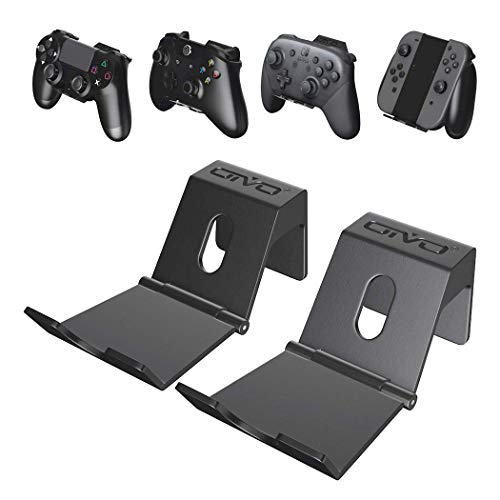 Wall Mout for PS4, Xbox One, Nintendo Switch Pro Controller, OIVO Upgraded Foldable Wall Mount for Video Game Controller - 2PACK
