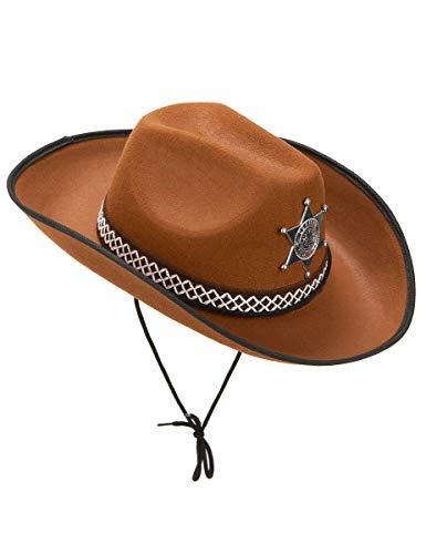 Vegaoo - Hellbrauner Sheriff-Hut für Erwachsene - Einheitsgröße