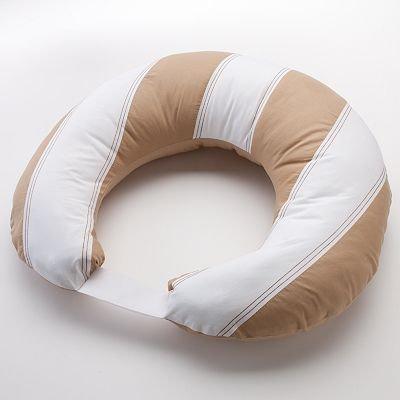 Bacati - Metro Khaki/White/Chocolate Nursing Pillow Cover only