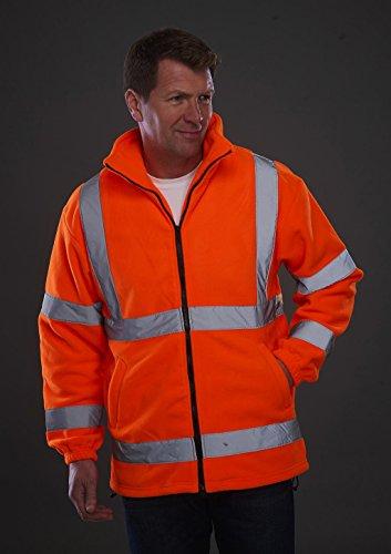 Yoko Herren yk042/hvk08Hi Vis schwerem Fleece Jacke 3XL Orange