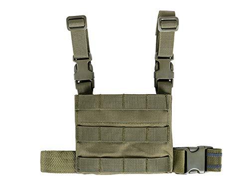 KANGORO Multifunktions Drop Leg MOLLE Panel Airsoft Sicherheit Beinschnalle Zusatztaschen Pouch (Olive)