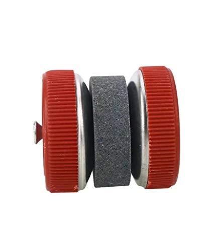 WOO LANDO handmatige messenslijper, licht slijpen door rollen - ideaal voor keukenmessen en outdoor -handig en licht in rood