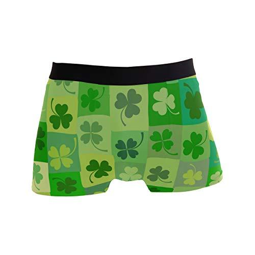 ZKKO Fashion Saint Patrick Shamrock Herren Unterwäsche Boxershorts Atmungsaktiv mehrfarbig Gr. X-Large, mehrfarbig