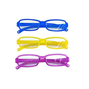 【GOOD QUALITY】The miniature doll eye glasses are made of durable plastic. 【PRODUCT SIZE】The american girl glasses measures 3.14 in length. 【PACKAGE INCLUDED】3 pcs 18 inch doll eyewears. 【APPLICATION】Skillfully designed to add the perfect pair of glas...