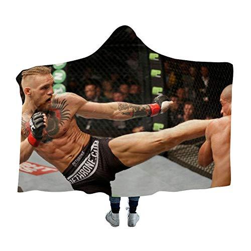 DONL9BAUER Conor Mcg-regor Decke für Boxen, Bettwäsche, Sweatshirt mit Kapuze, warm, für Erwachsene, Kinder und Jugendliche