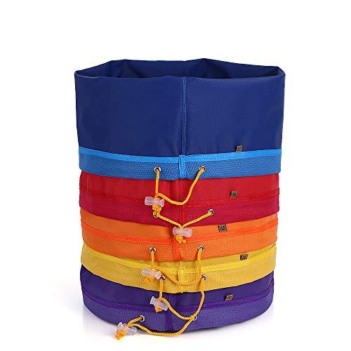 Bubble Bag Extraktionsbeutel 5 stücke 5 Gallonen Filterbeutel Blase Tasche Kräutereis Essenz Extractor Kit Set von Micron Tasche Kordelzug Extraktionstaschen mit Drücken Bildschirm und Tragetasche
