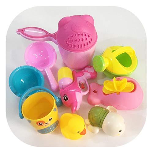 XSDF Juego de Juguetes para baño, Taza de champú para niños, Tetera para Baby Shower, Cuchara de baño Natatorium