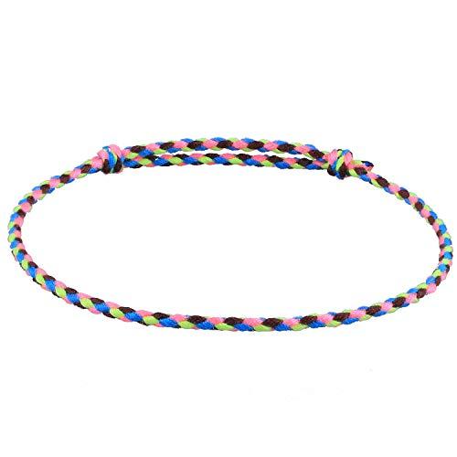 C.QUAN CHI Geflochten Gewebte Strand Armbänder Frau Mädchen String Fußkettchen Handgefertigt Kabel Einstellbar Beste Freunde Armbänder
