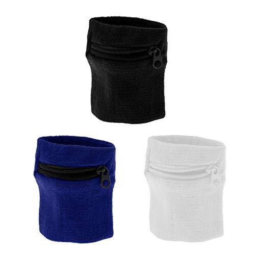 harayaa Bolsa de Abrigo de Brazalete de Pulsera de Béisbol Transpirable Elástica de 3 Colores para Correr Gimnasio