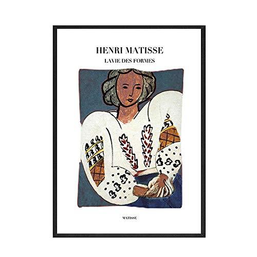 Póster abstracto impreso lienzo pintura Mural Francia Freud Henri Matisse nórdico sin marco lienzo decorativo pintura C 30x45cm
