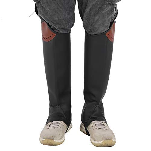 Nunafey Protectores de piernas ecuestres para Adultos, Medias chaparreras, Leggings ecuestres Reutilizables, Medias chapas de Cuero para Montar a Caballo para Zona de Juegos para Pradera para