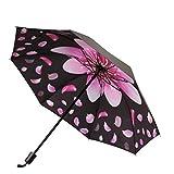 新しい小さな黒い傘、桜の傘、雨の傘、折りたたみ式の日よけ、カスタム広告の日傘Rain gear