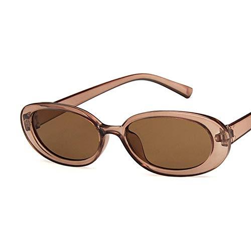 Gafas de Sol Gafas De Sol Retro Gafas De Sol Ovaladas Mujeres Retro Vintage Ladies Cat Eye Pink Gafas De Sol Uv400 C6Fullbrown