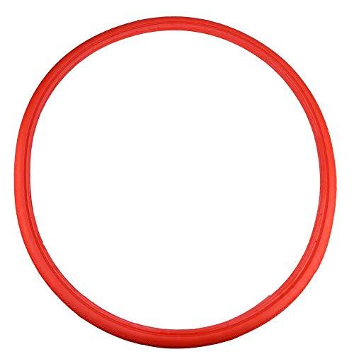 Fahrradreifen Vollrohr Explosionsgeschützt Reifen, Fahrrad Vollgummireifen Rennrad Reifen Mode Fahrrad Radfahren Tubless Riding Solid Reifen für Rennrad Fixed Gear 24 * 1 3/8(Rot)