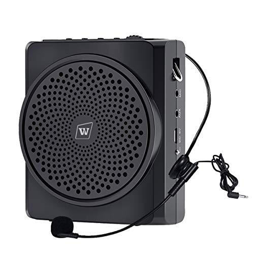 Amplificador de voz portátil recargable con micrófono para auriculares con cable compatible con Bluetooth, altavoz y micrófono 16W 2200mAh para profesores S619