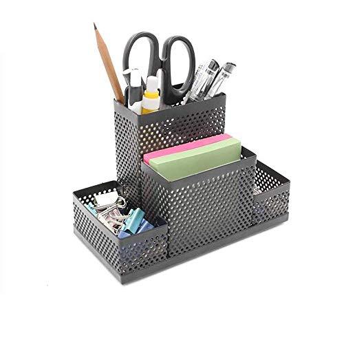 Malla de escritorio de oficina ordenado organizador de escritorio de múltiples funciones Caja de almacenamiento titular de la pluma de gran capacidad, de escritorio de escritorio caja de almacenamient