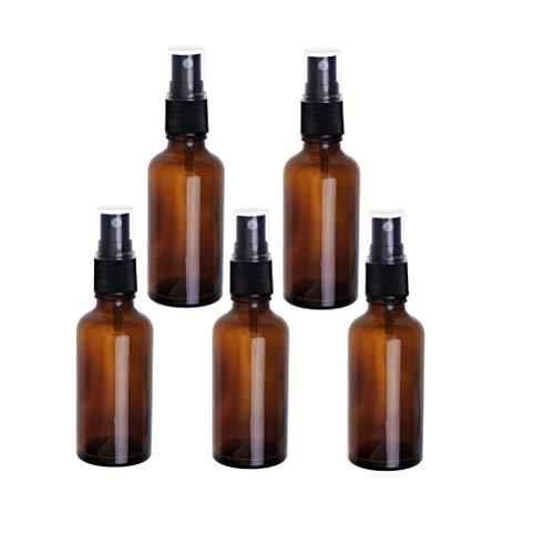 Hemobllo - Botella de spray líquida portátil de 100 ml con pulverizador vacío, recargable, 5 unidades