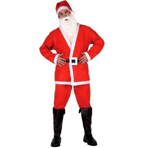 Atosa 8422259692140 - Costume da Babbo Natale Adulto, Taglia: 50 - 52