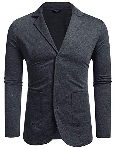 Maxmoda heren Sakko Jersey blazer regular fit mannen modern lichte jas vrije tijd