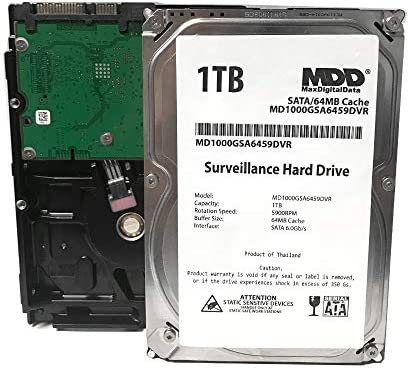 MaxDigitalData 1TB 64MB Cache 5900PM SATA 6 0Gb s 3 5 Internal Surveillance CCTV DVR Hard Drive product image