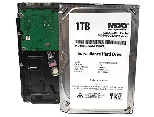 MaxDigitalData 1TB 64MB Cache 5900PM SATA 6.0Gb s 3.5 Internal Surveillance CCTV DVR Hard Drive (MD1000GSA6459DVR) - w 2 Year Warranty