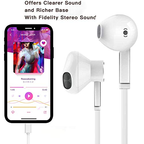 2 Pack-Apple Earbuds with Lightning Connector(Built-in Microphone