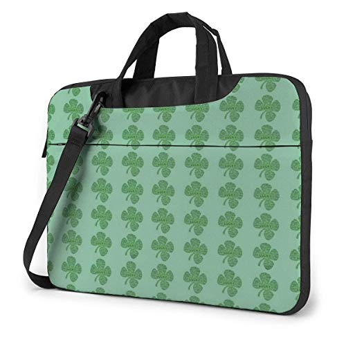 St. Patrick's Day Clovers Laptop Bag Compatible Laptop Carrying Handbag With Strap,