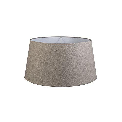QAZQA Moderno Lino Pantalla lino gris 55/45/28, Redonda/Cónica Pantalla lámpara de pie