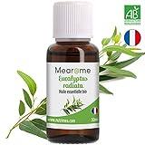 30 ML Huile essentielle d'EUCALYPTUS RADIE (Eucalyptus radiata) BIO - 100% Pure et Naturelle, Qualité supérieure certifiée Biologique, HEBBD, HECT - Distillée en France